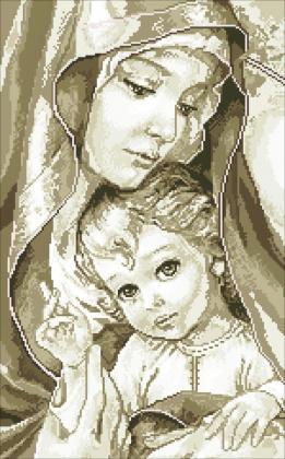 Богородиця з Ісусом TP900 Алмазна мозаїка IF