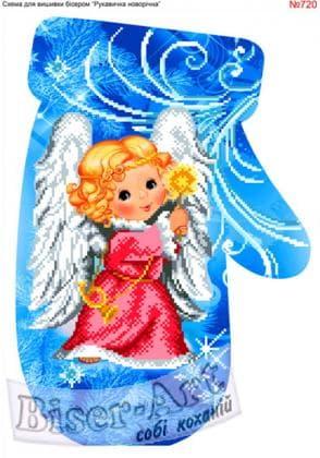 Новорічна рукавичка 720 Biser-Art
