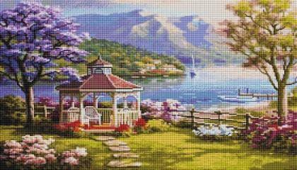 Краєвид з альтанкою SS813 Алмазна мозаїка IF
