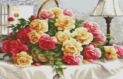 Троянди у кошику SS814 Алмазна мозаїка IF