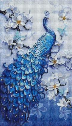 Пава у квітах SS815 Алмазна мозаїка IF