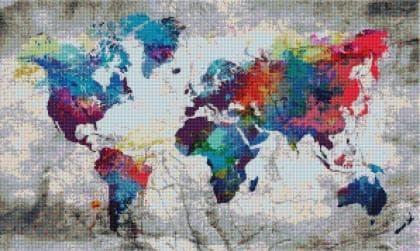 Карта світу SS816 Алмазна мозаїка IF