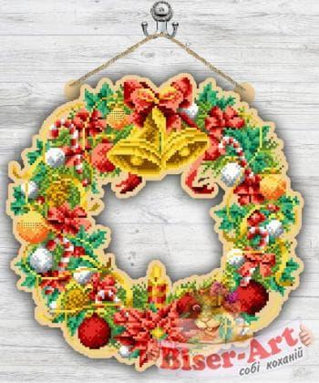 Вінок новорічний 93040538 Biser-Art