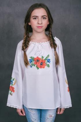Пошита блузочка для дівчинки ШВД-09 Княгиня Ольга