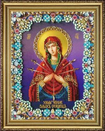 Божа Мати Семистрільна Р-426 Картини бісером