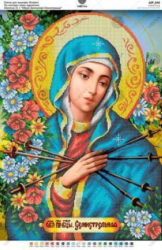За мотивами ікони О.Охапкіна «Образ Божої матері Семистрільна» А2Р-002 VIRENA