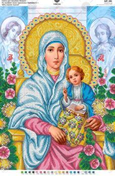 """За мотивами ікони О.Охапкіна """"Божа Мати з малям Ісусом"""""""
