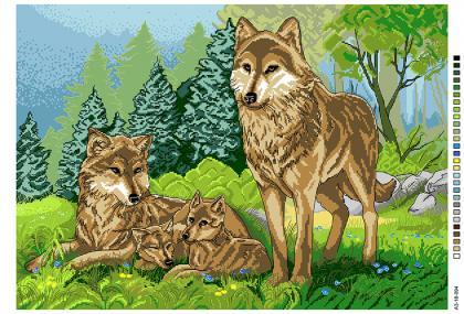 Вовки А3-18-094 Вишиванка
