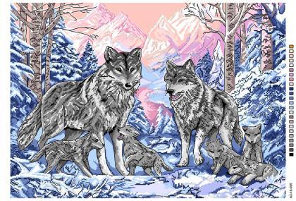Вовки А3-18-095 Вишиванка