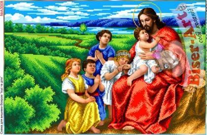 Ісус і діти А3008 Biser-Art