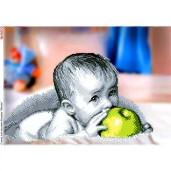 Малюк з  яблуком