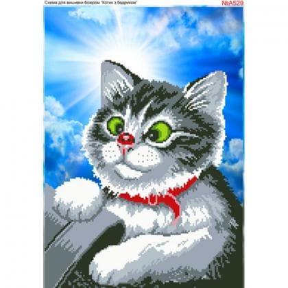 Котик з бедриком А529 Biser-Art