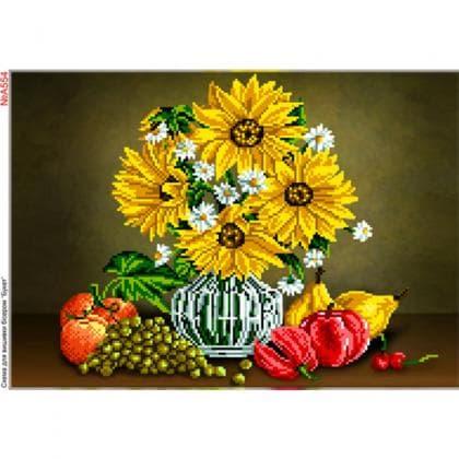 Натюрморт з соняшниками А554 Biser-Art