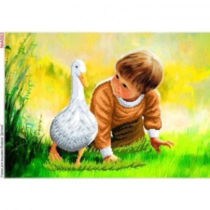 Хлопчик з гусочкою А562 Biser-Art