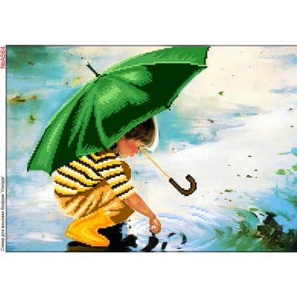 Хлопчик з парасолькою А564 Biser-Art