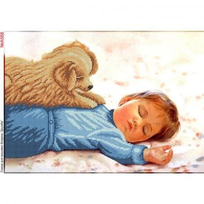 Малюк з песиком А568 Biser-Art