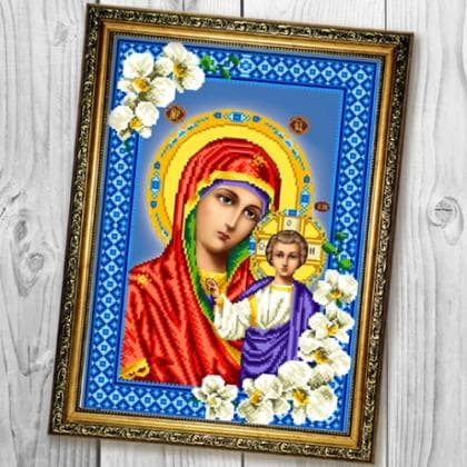 БМ Казанська в орхідеях А676 Biser-Art