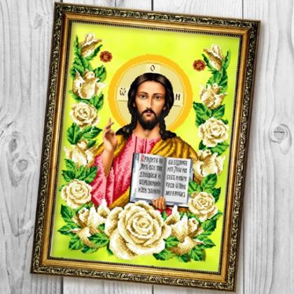 Господь Вседержитель в трояндах А680 Biser-Art