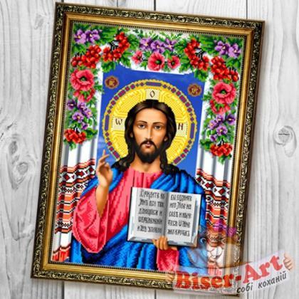 Господь Вседержитель в квітах А683 Biser-Art