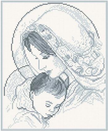 Мадонна і дитя (срібло) АМП-003 Алмазна мозаїка IF