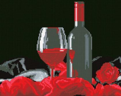 Вино і троянда АМС-116 Алмазна мозаїка IF