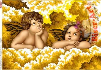 Ангели в хмаринках (золоті)