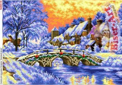 Зимовий вечір В518 Biser-Art