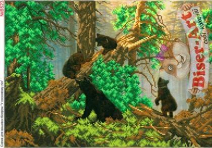 Ранок в сосновому лісі В523 Biser-Art