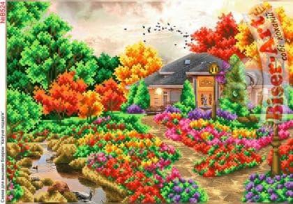 Квітуче подвіря В524 Biser-Art