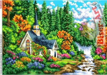 Божий дім на березі В529 Biser-Art