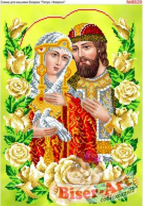 Петро і Февронія в трояндах В629 Biser-Art