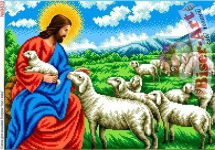 Ісус і вівці В632 Biser-Art