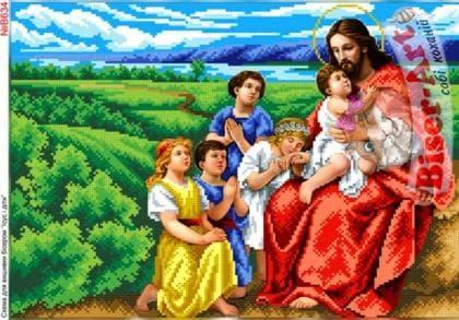 Ісус і діти В634 Biser-Art