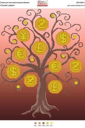 Грошове дерево А3-298А Вишиванка