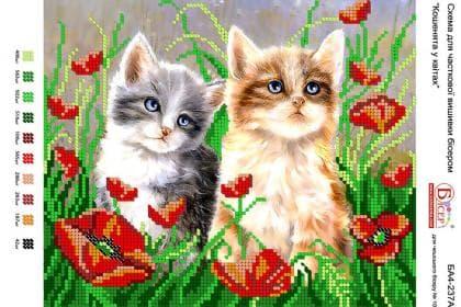 Кошенята у квітах А4-237 А Вишиванка