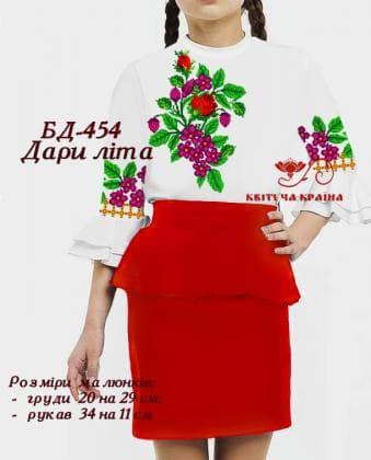 Заготовка дитячої блузки БД-454 Квітуча країна