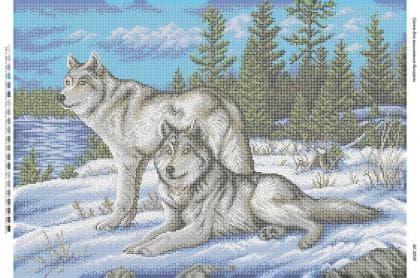Вовки на снігу БС-2028 Сяйво БСР
