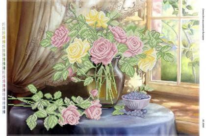 Натюрморт з трояндами біля вікна БС-2040 Сяйво БСР