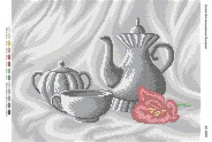Чайний сервіз (ч/б) БС-3099 Сяйво БСР