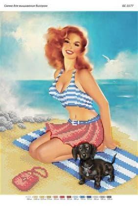 На пляжі в стилі пін-ап БС-3177 Сяйво БСР