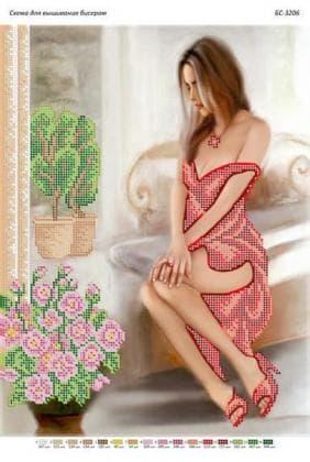 В червоній сукні БС-3206 Сяйво БСР