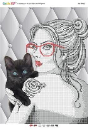 Дівчина з котом БС-3237 Сяйво БСР