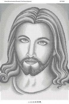 Лик Ісуса Христа (срібна) БСР-2028 Сяйво БСР