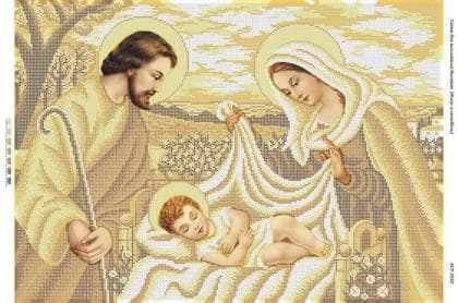 Ісус в колисці (золото) БСР-2032 Сяйво БСР