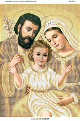 Святе сімейство (золото) БСР-2034 Сяйво БСР