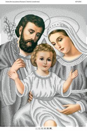 Святе сімейство (срібло) БСР-2035 Сяйво БСР