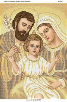 Святе сімейство(золото) БСР-2056 Сяйво БСР