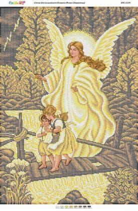 Ангел охоронець золото БСР-2129 Сяйво БСР