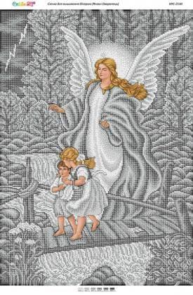 Ангел охоронець срібло БСР-2130 Сяйво БСР