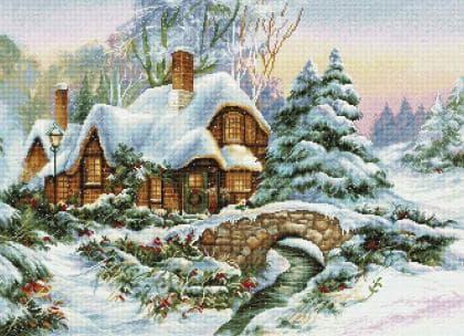 Зимовий пейзаж BU5001 Luca S